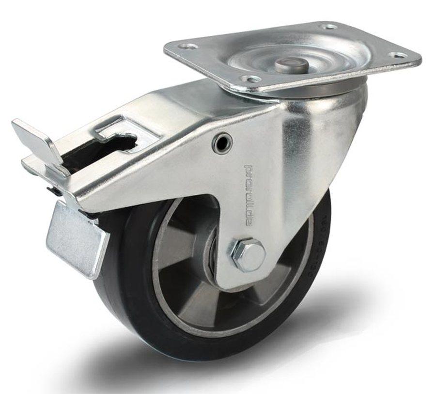 Rad-Ø x Breite 160 x 50 mmGehäuse Stahlblech verzinkt, Schwenklager mit doppeltem Kugelkranz, Schwen...