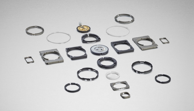 The movement holder, holds the watch movement inside the watch and protects it against shocks. We ma...