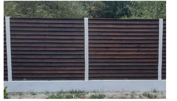 Деревянный забор импрегнированный в автоклаве консервантом TANALITH E.