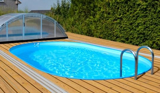 Zapuštěné fóliové bazény
