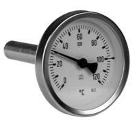 I form av bimetall finns i mätområden från -40°C till 500°C. Finns med tillhörande skyddsficka i oli...