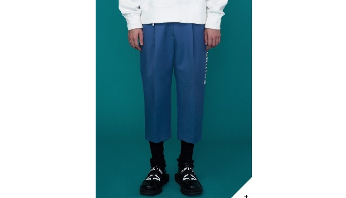 SERIOUS BAGGY PANTS _ MUD BLUE | Designer outfit