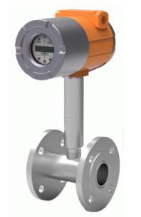 Vortex KVO Vortex flödesmätare består av en vortex virvelskapande kropp. Virvlarna mäts av en piezo ...