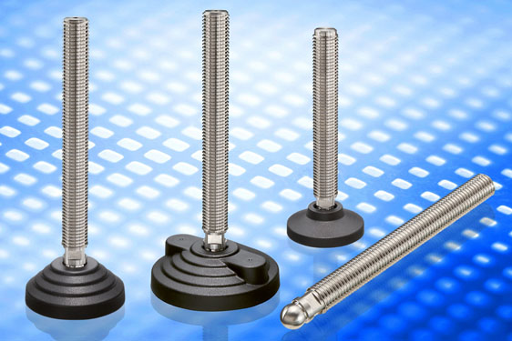 AISI 304 stainless steel levelling elements series LSQ.A-SST, LVQ.A-SST and LVQ.F-SST. The levelling...