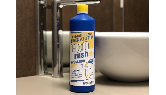 ECO-RUSH è un disotturante chimico al alta concentrazione. Prodotto aggressivo per liberare le tubat...