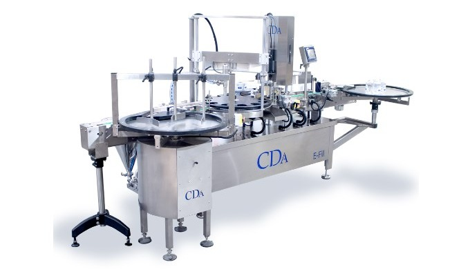 The E-Fill, designed by CDA USA, allows the filling, screwing and labeling of products in one machin...