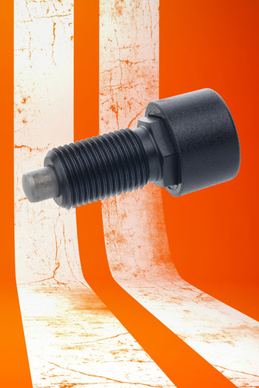 The metal GN514 series of push-push indexing plungers from Elesa provides the option of hand or foot...