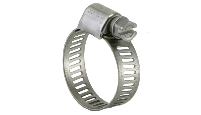 "Perforated Mini Hose Clamps - 3/8"" (9mm) Band Width"