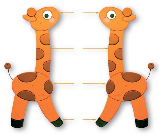 Provázková nástěnka Žirafy