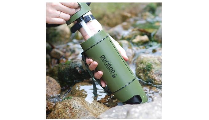 PURISOO - Portable Water Purifier Bottle   Water filter