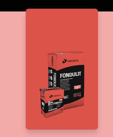 FONDULIT®, mortier réfractaire prêt à l'emploi résistant à 1300°C