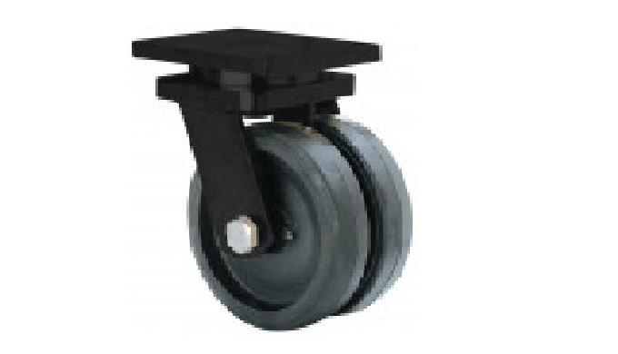 Rueda doble con núcleo de acero. HG: Ruedas apropiadas para tracción mecánica.
