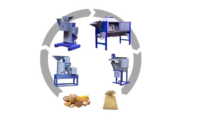 крупорушка/мельница / Универсальный комплекс для производства круп и муки