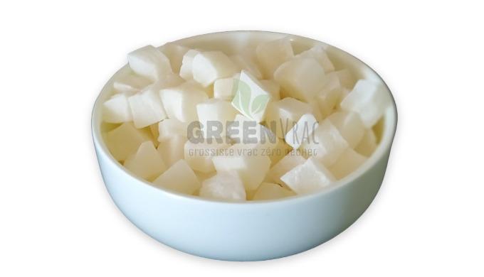 Notre Noix de Coco Déshydratée Cubes Sucrée en vrac est préparée en Thaïlande et conditionnée en Esp...