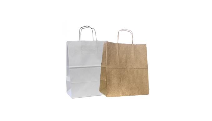 Saco de papel Asa torcida para take away