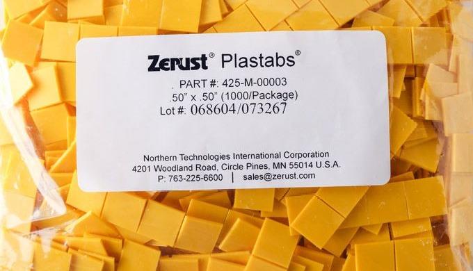 Zerust Tabs® | Zerust Plastabs 0.5 ″ & 0.75 ″ | VCI-emitterit vaikeasti tavoitettaviin ja hankaliin tiloihin