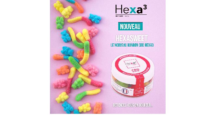bonbons au CBD broad spectrum hexaSweet