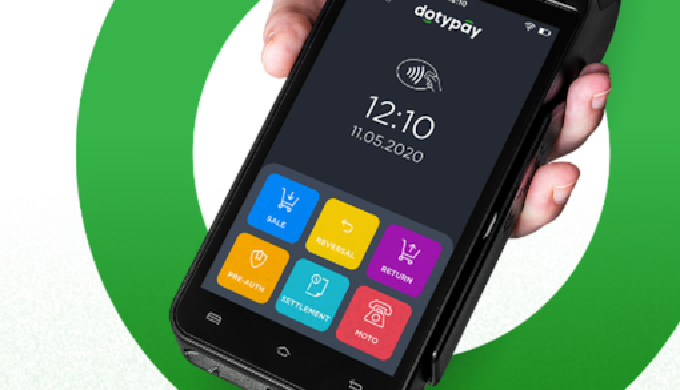 Platební terminál Dotypay s nízkým transakčním poplatkem – platební terminál se systémem Android, s ...