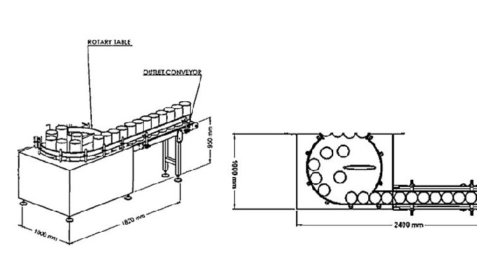 ROTARY OUTFEED TABLE