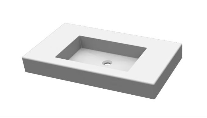 MAXit wash basins made of solid surface