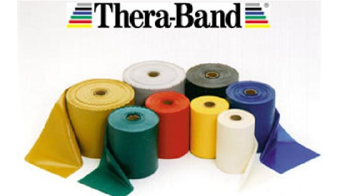 Thera-Band latex Exercise Bands are available in 8 color-coded levels of resistance. Proper use of t...