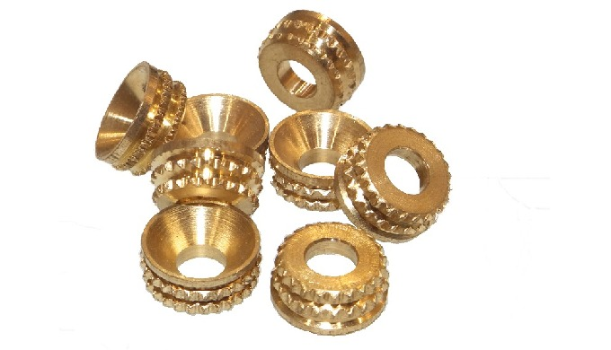 Brass knurl Turned Cup Washers