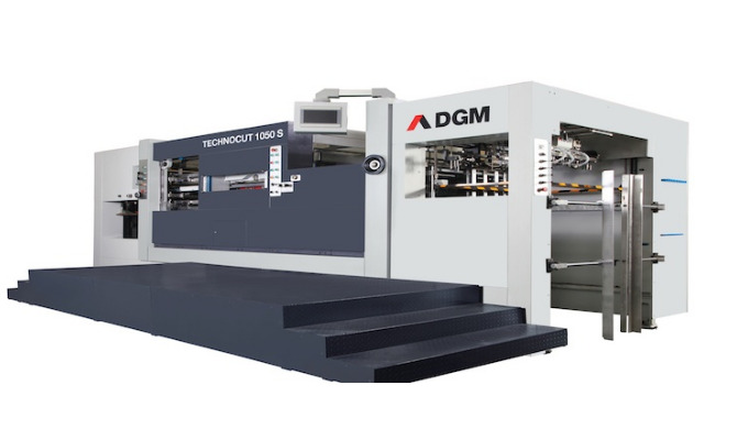 Automatic die-cutter with stripping unit. TECHNOCUT 1050-S Automatic Die Cutting Machine with Stripp...