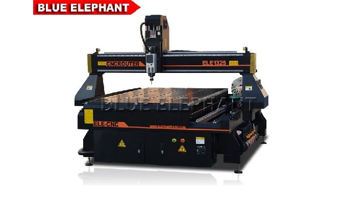 Máquina de escultura em madeira CNC ELECNC-1325 com dispositivo rotativo