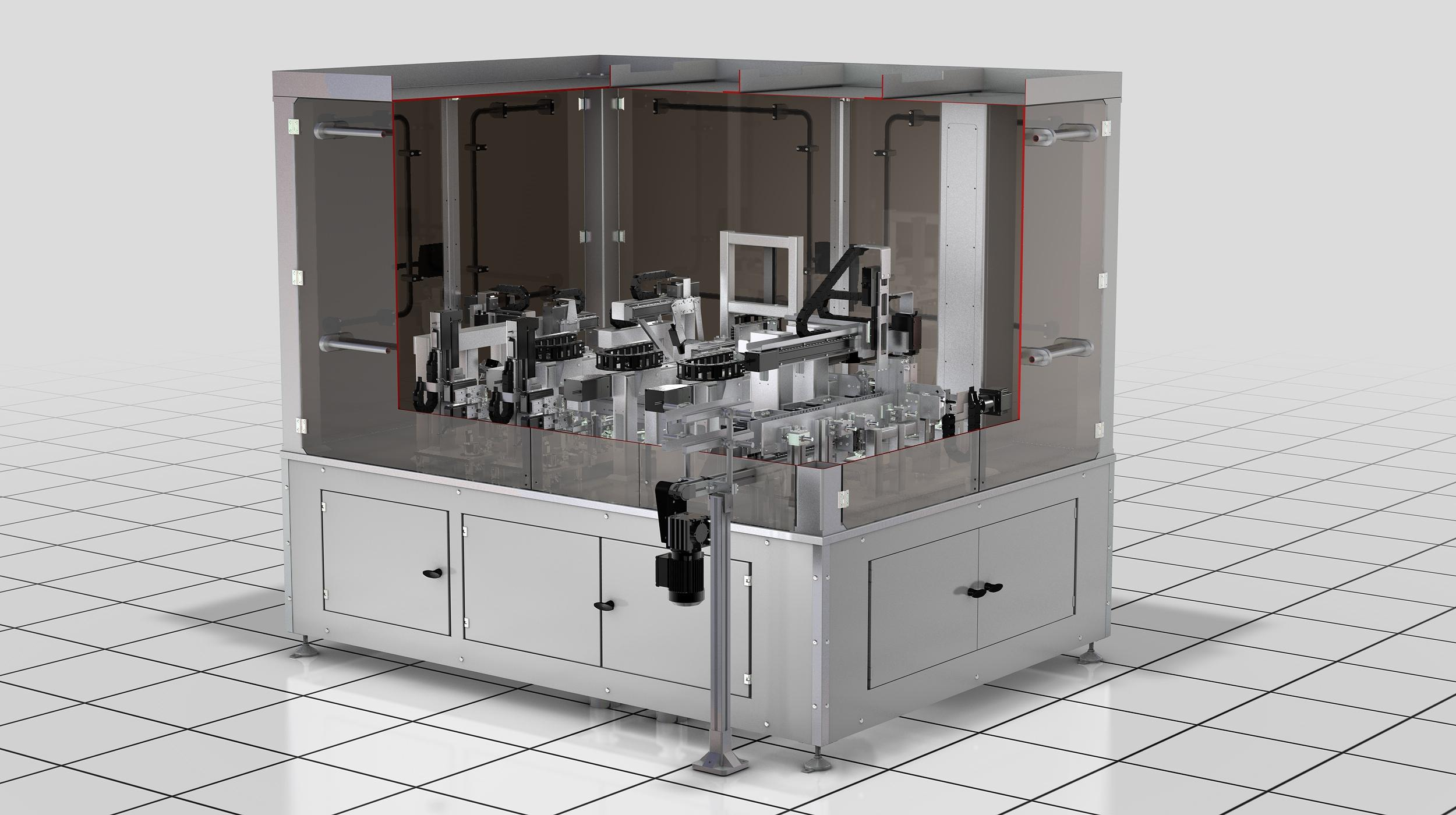 Die Ampullen-Prüfanlage VIM ist die erste vollautomatische Anlage für die In-Prozesskontrolle von BF...