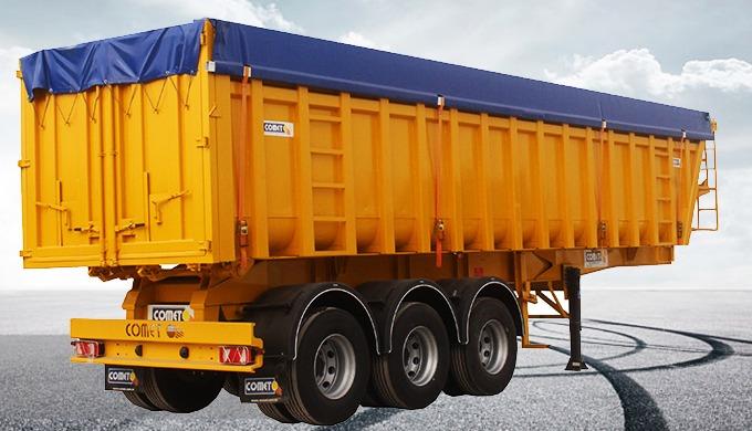 La benne céréalière 45 m³ COMET est destinée au transport des produits volumineux à faible densité c...