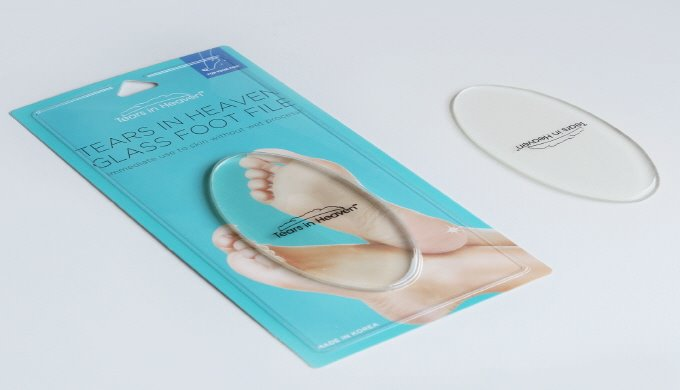 5) Tears in Heaven Glass Foot File | Foot Care Product