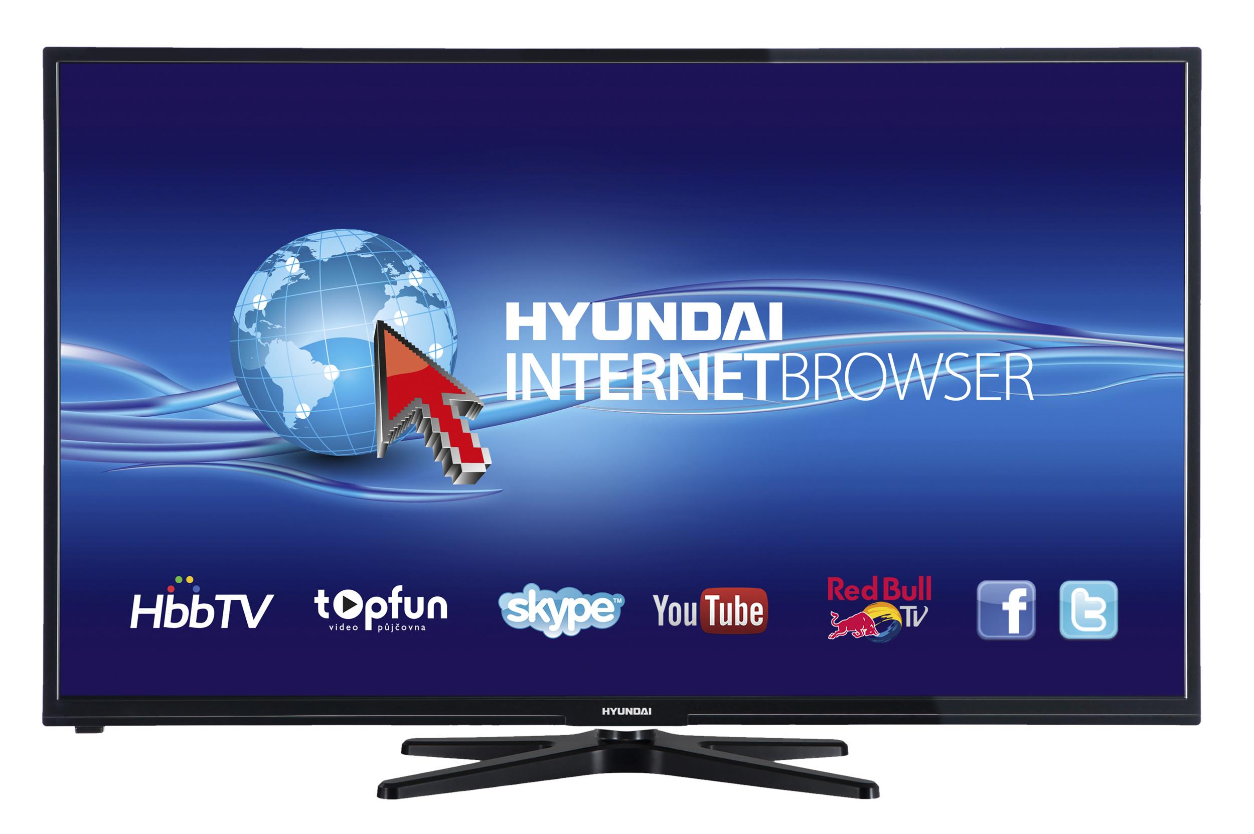 Internetová televize v moderním slim designu a s úhlopříčkou 127 cm s podstavcem v elegantním, odleh...
