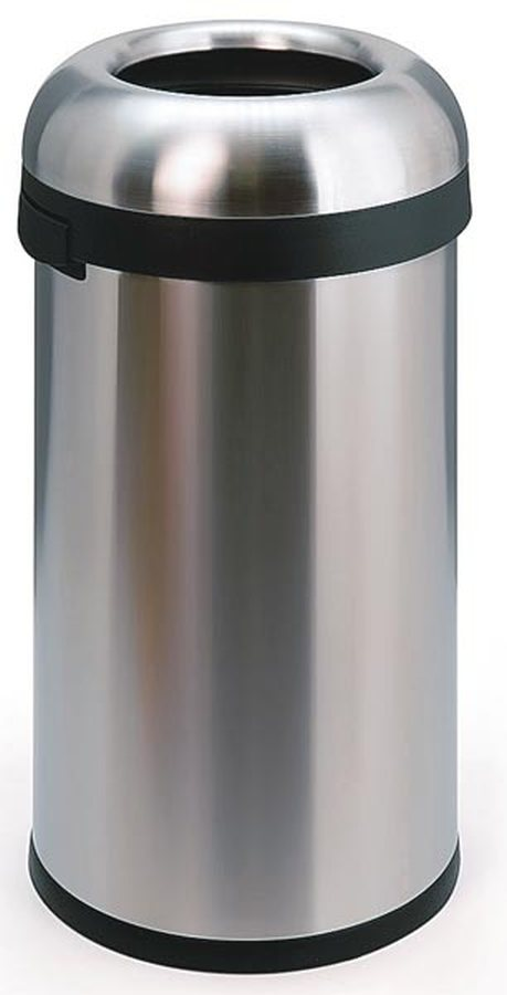 OPEN TOP, große EinwurföffnungHochwertige Abfallbehälter aus Edelstahl mit außergewöhnlichem, funkti...
