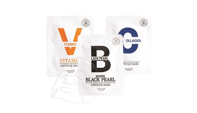Rooicell Mask Series (Marin Collagen Ampoule Mask, Vitamin Ampoule Mask, Marine Black Pearl, Hyaluronic Acid Mask)