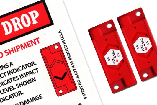 Drop N Tell damage Indicators are ideal for use as export packaging. Self-adhesive impact labels may...