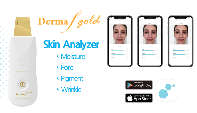 Skin Care, Skin Analyzer Device - DERMA F GOLD​