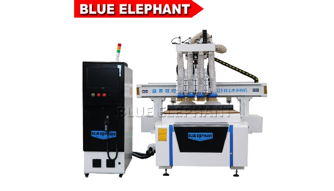 High precision multi spindle 3d cnc router 1325 with dust collector