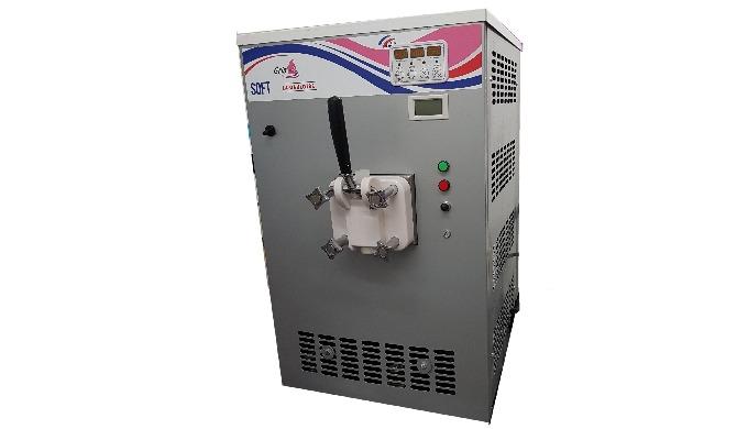 Cette machine à glace à l'italienne 1 ou 2 parfums est conçue pour les petits commerces ( boulangeri...