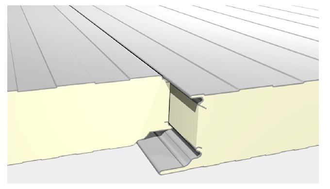 C'est un panneau sandwich isolant constitué côté extérieur d'un parement acier galvanisé prélaqué lé...