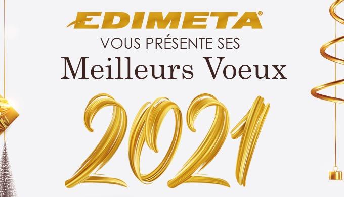Toute l'équipe EDIMETA vous souhaite la bonne année mais surtout la bonne santé !