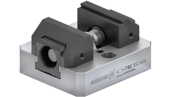 Prensa de precisión para piezas pequeñas con una gran fuerza de sujeción