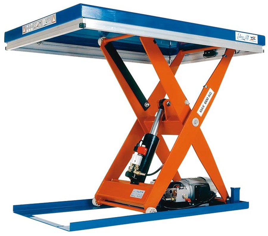 Tragfähigkeit 1500 kgKompakt-Hubtische sind frei aufstell- oder einbaubar, sodass die Plattform bünd...