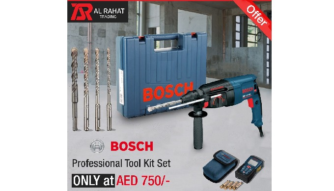 Buy BOSCH Professional Tool Kit SET only at AED 750/- only at Al Rahat Trading Co. LLC store. In thi...