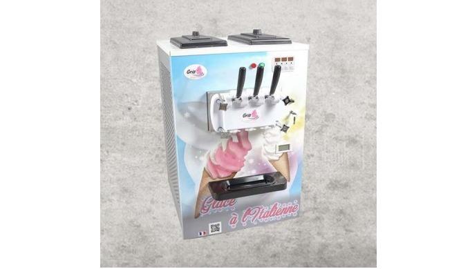 Machine a glace italienne (glace soft) de comptoir , à poser sur un chariot, un comptoir, un meuble....