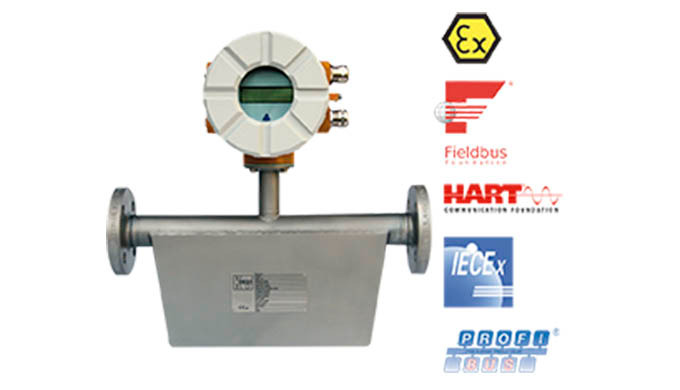 Messbereich: 0,8 - 8 kg/h ... 4000 - 40000 kg/h Anschluss: Flansch DN10 ... DN100, ANSI ½ - 3