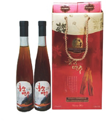 RED-GINSENG WINE_No.1 Giftset Superiority of Hongsam Myeongju Hongsam Myeonggju is a healthy ferment...