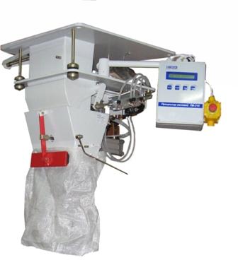 Весовой дозатор для дозирования сыпучих материалов в зашивные мешки СВЕДА ДВС-301-70-1