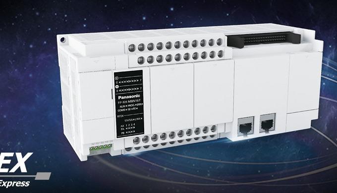 Panasonic FP-XH: kompaktní PLC s vestavěným řízením pohonů