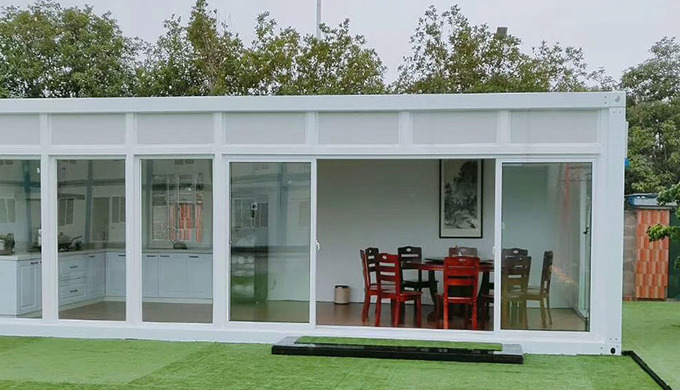 Light steel modular structure container home Made from flat pack container house's steel frame, sand...