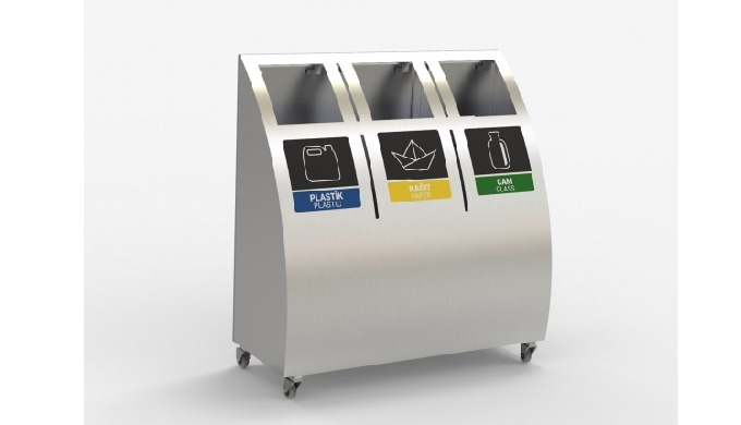 Waste Bin, Recycling Bin, GERİ DÖNÜŞÜM KUTUSU